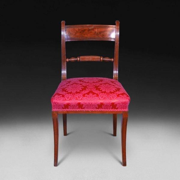 Set of Ten Regency Mahogany Dining Chairs