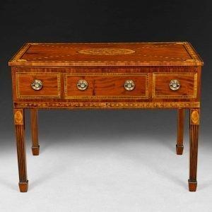 George III Mahogany and Inlaid 'Rudds' Dressing Table
