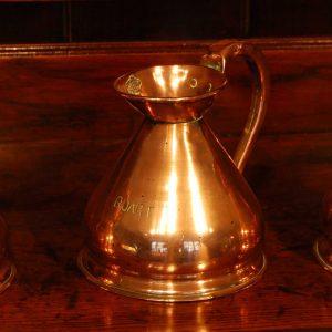 Set of Three 19th Century Copper Measures