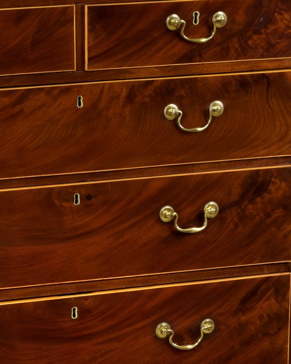 George III Mahogany Straight Front Chest of Drawers