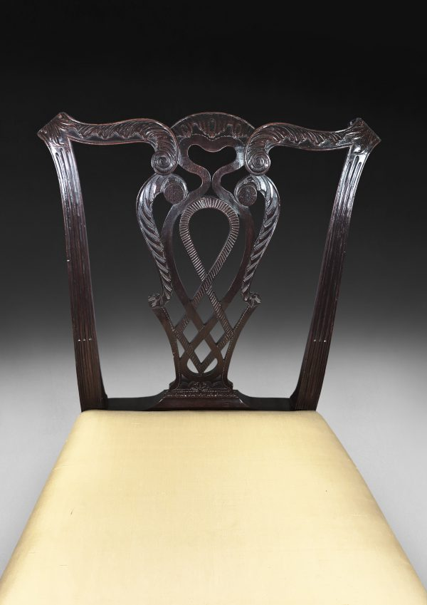 Chippendale Style carved Mahogany dining chairs
