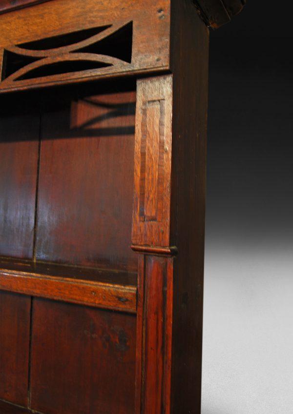 George III Period Inlaid Oak Welsh Dresser