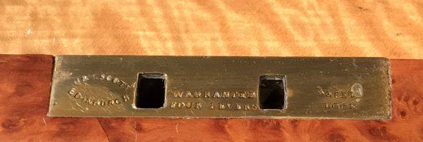 Victorian Amboyna and Bone Inlaid Davenport