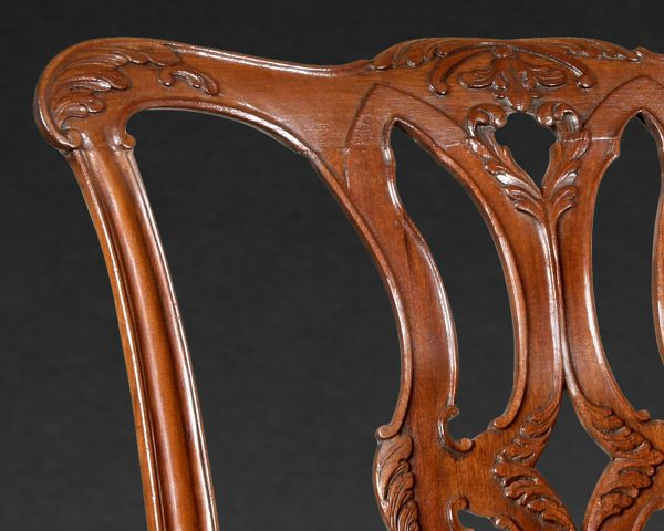 Pair of Chippendale Mahogany Chairs
