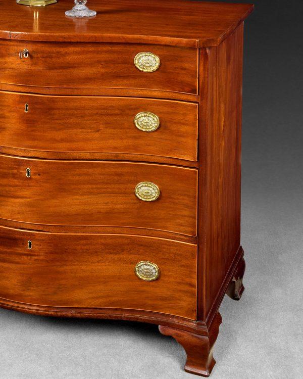 George III Mahogany Serpentine Chest of Drawers