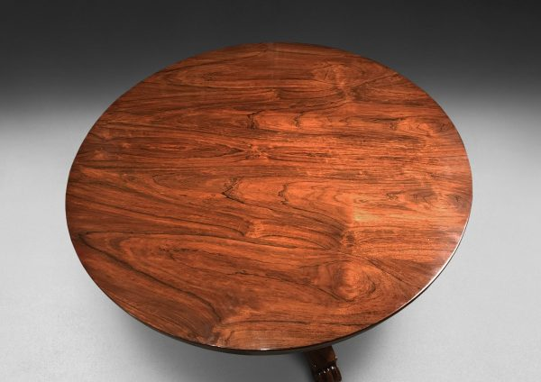 Regency Period Rosewood Circular Dining or Centre Table