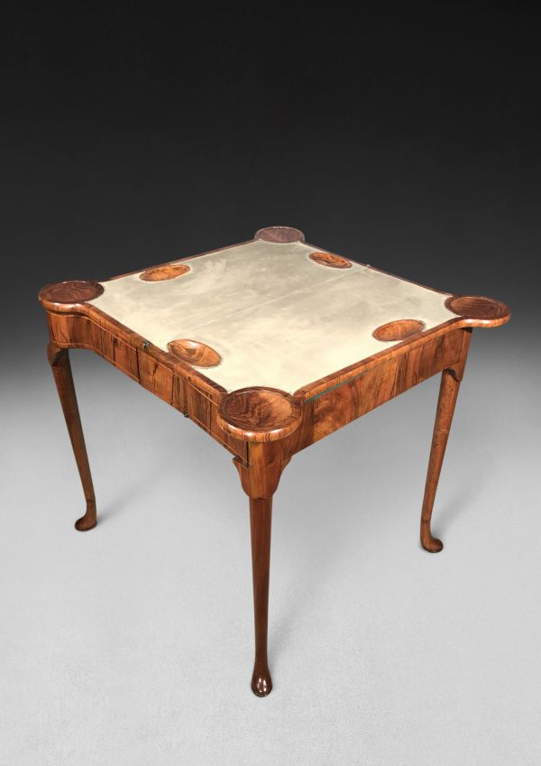George I Walnut Card Table