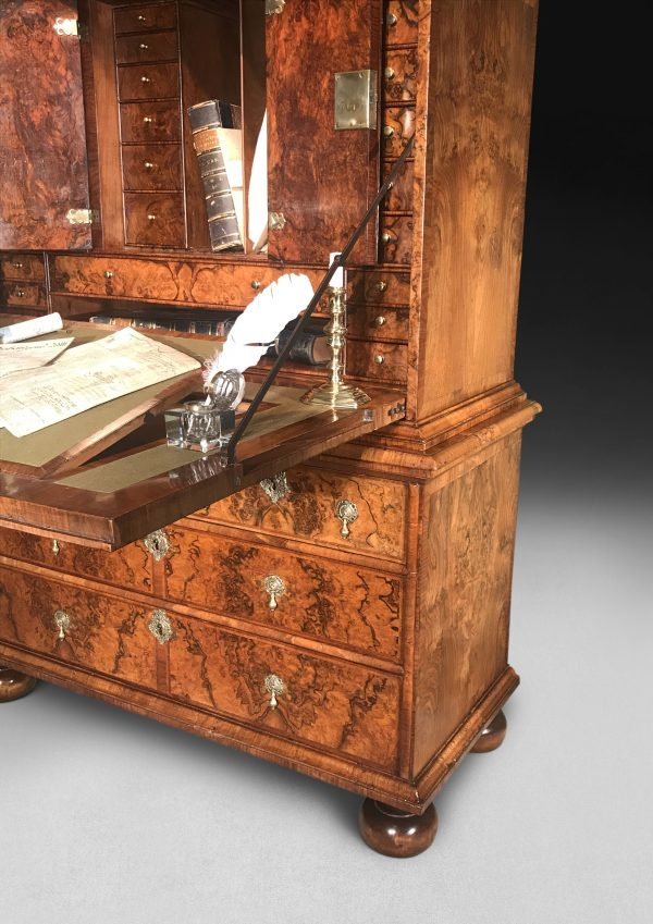 Charles II Burr Walnut Escritoire